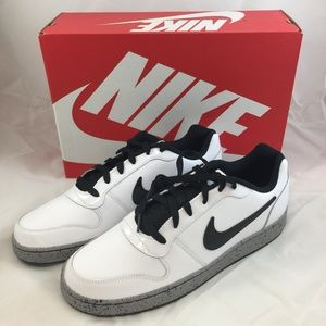 Nike Ebernon Low Casual Shoes - White Black Cement